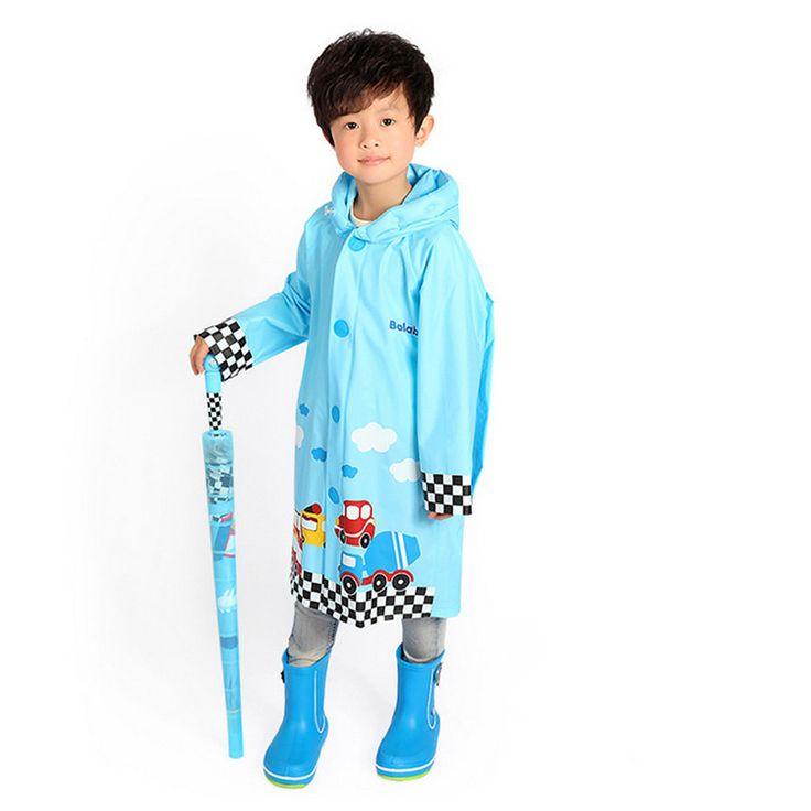 Cartoon Raincoat South Korea Lovely Cartoon Child Fashion Rainwear Girls Baby Children Reflective Stripe Poncho Raincoat  #Affiliate