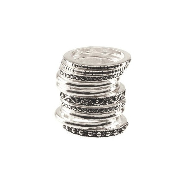Stackable rings. H found on Polyvore  $5.90  get in gold too