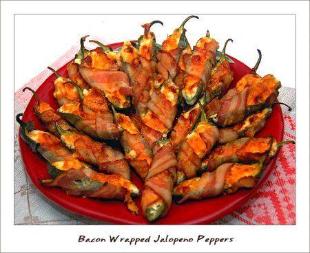 Завернутый в бекон халапеньо перец (bacon wrapped jalapeno peppers)