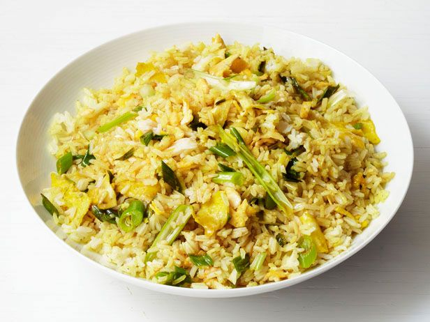 Add a meat or tofu - easy peasy Curry Fried Rice Recipe : Food Network Kitchens : Food Network - FoodNetwork.com