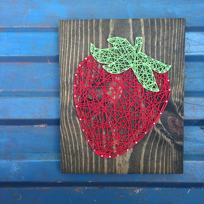 Strawberry String Art via Commonthread