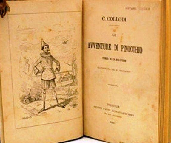 Η πρώτη έκδοση του βιβλίου ''Οι Περιπέτειες Του Πινόκιο''