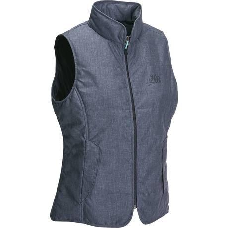 Gilet sans manche équitation femme ACCESSY bleu jeans   Fouganza