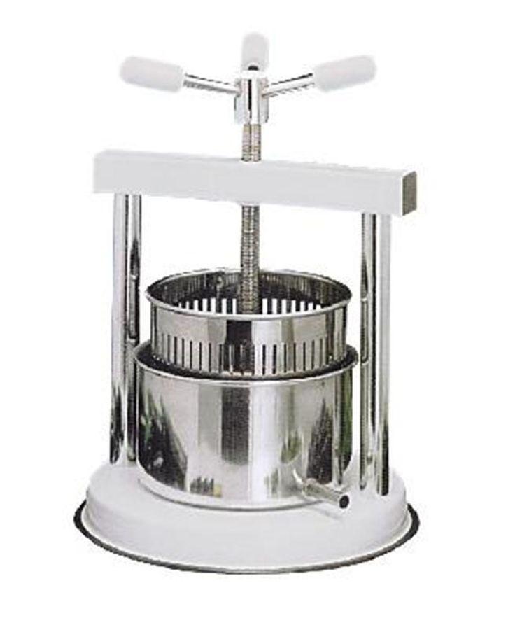 Pressoir à vis 3,3 litres inox - Tom Press