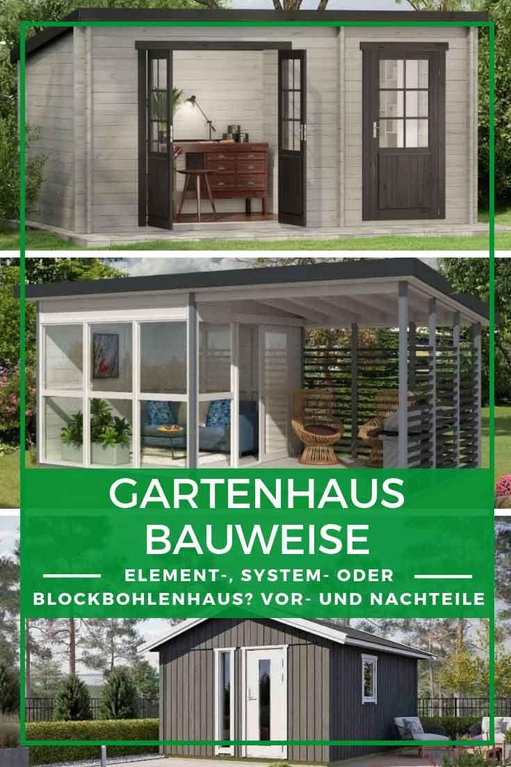 Gartenhaus Bauen Gartenhaus Elementbauweise Systembauweise Oder Mit Blockbohlen Gartenhaus Bauen Gartenhaus Haus