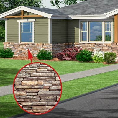 ranch style house with stone pillars | ... Redo: Craftsman Makeover for a No-Frills Ranch | This Old House
