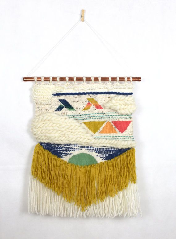 Handwoven by Youplaloom. Wall hanging. This hand woven piece will look perfect in any room of your home. It will add colours and texture to your wall. Or it would also make a beautifull gift for your loved ones.