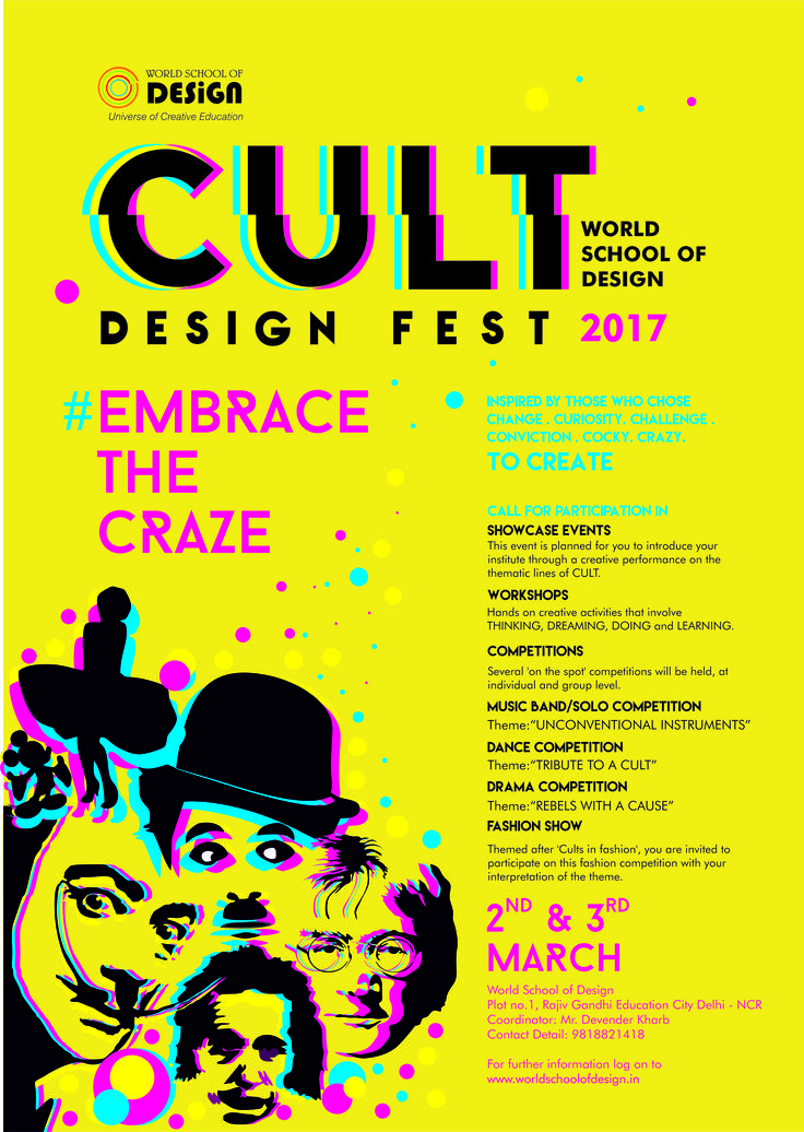 CULT – Design Fest 2017 by World School of Design