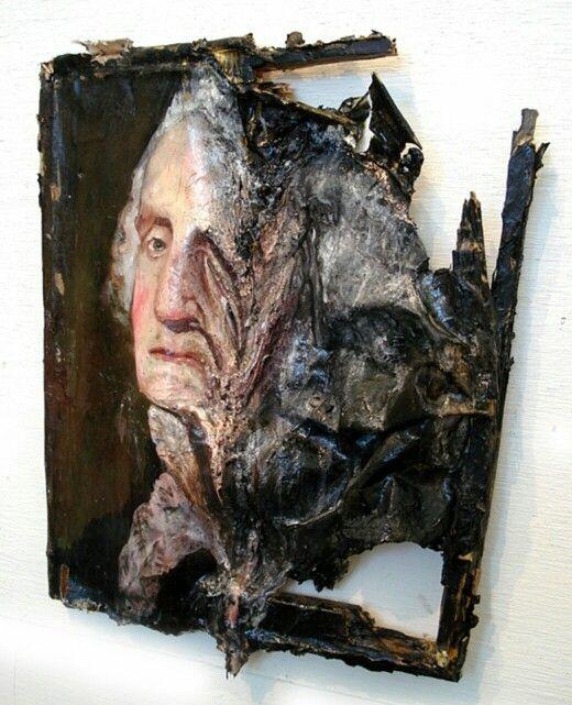 """""""George Washington Melted"""" - Valerie Hegarty"""