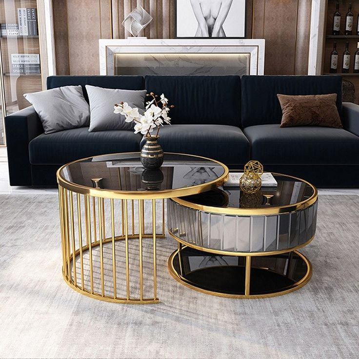 modern round gold gray nesting coffee table with shelf on exclusive modern nesting end tables design ideas very functional furnishings id=82976