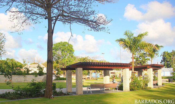 Church Village Green park in the heart of #Barbados capital city Bridgetown
