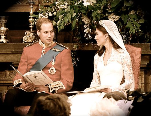 Duke and Duchess of Cambridge share a glance with each other during their royal wedding, April 29, 2011 by the Waxbitch, via Flickr