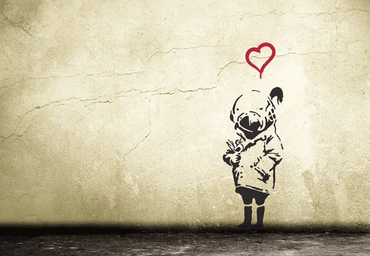 ASTRONAUTS HEART BUBBLE LOVE Wandtattoo Streetart | Heart, Products ...