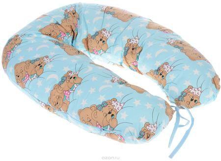 """Фэст Подушка для беременных и кормящих мам Спящие мишки цвет голубой  — 974р.  Подушка для беременных и кормящих мам Фэст """"Спящие мишки"""" - это удобная и практичная вещь, которая прослужит вам долгое время. Подушка имеет форму подковы. Предназначена для беременных и кормящих мам, позволяет принять удобное положение во время сна, отдыха на больших сроках беременности и кормления грудничка. При кормлении грудью подушка помогает уменьшить нагрузку на руки, плечи и шею. Для поддержания ребенка в…"""
