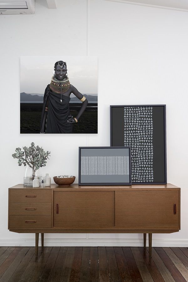 The tribal trend - muted earthy colours and tribal portraits