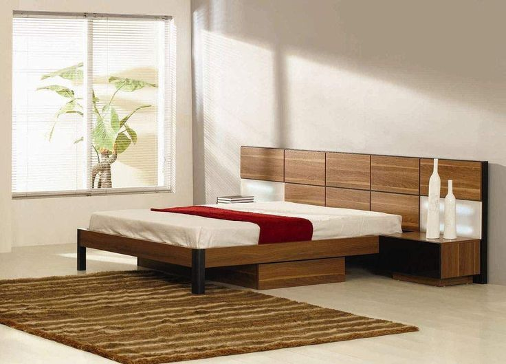 Italian quality wood high end platform bed with extra for High end bedroom designs