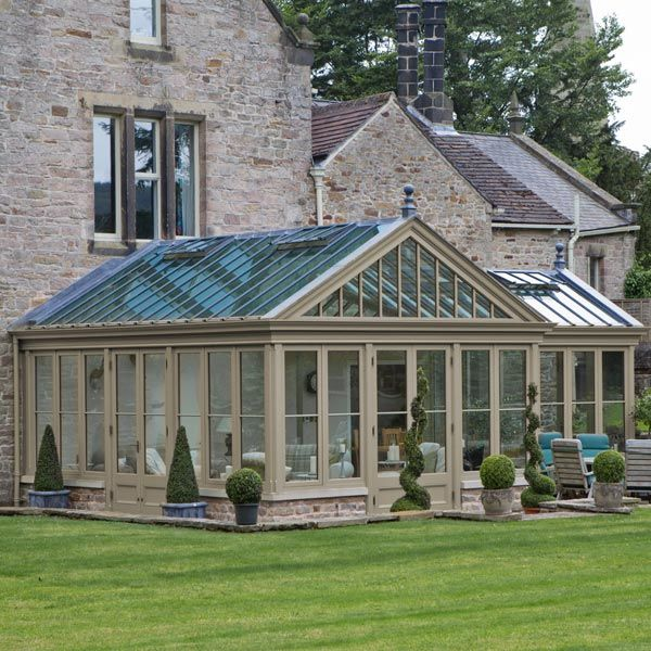 Conservatory Painted To Complement The Main House Maine House Sunroom Designs Garden Room Extensions