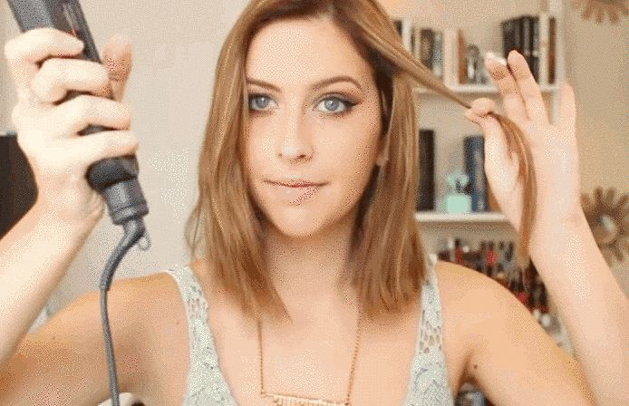 For this look, it's all in how you direct the flat iron. | Learn How To Curl Your Hair In Five Minutes