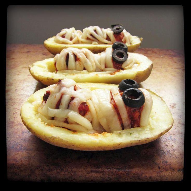 How To Make : Halloween Mummy Potatoes with Meatballs - Halloween Recipe