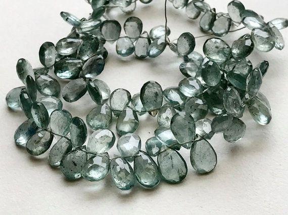 Moss Aquamarine Beads Moss Aqua Faceted Pear by gemsforjewels