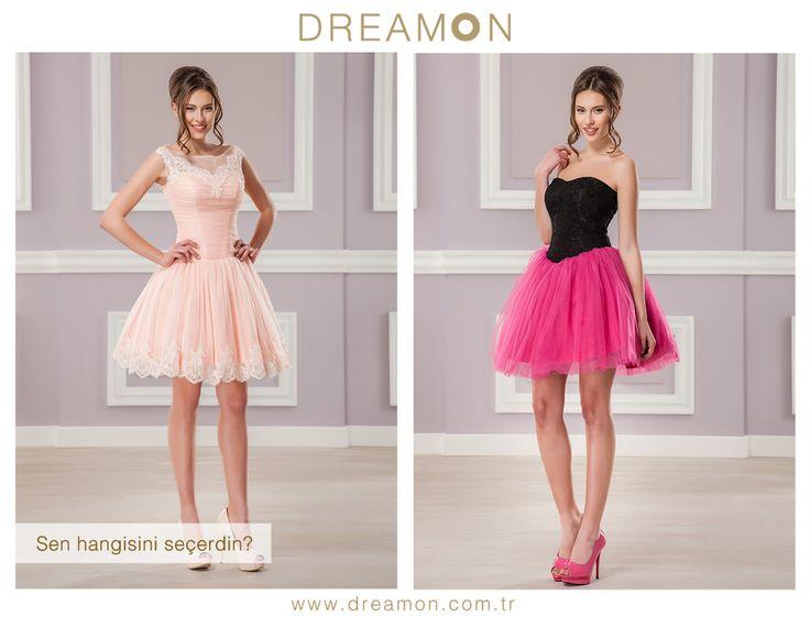 """DreamON'un birbirinden özel modellerinden """"Sen Hangisini Seçerdin?"""" Kissberry (Pudra) ya da Ouzo (siyah-fuşya)  #gelinlik #gelinlikmodelleri #dreamongelinlik #dreamon #gelinlikler #bittersweet #kissberry #ouzo  www.dreamon.com.tr"""