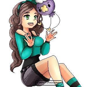 {StripeyStockings}  ---  Pixel of my Pokemon oc Iris and her drifloon -- #Pokemon #pokemonoc #driffloon #pixel ---  Find me also on: http://stripeystockings.deviantart.com/