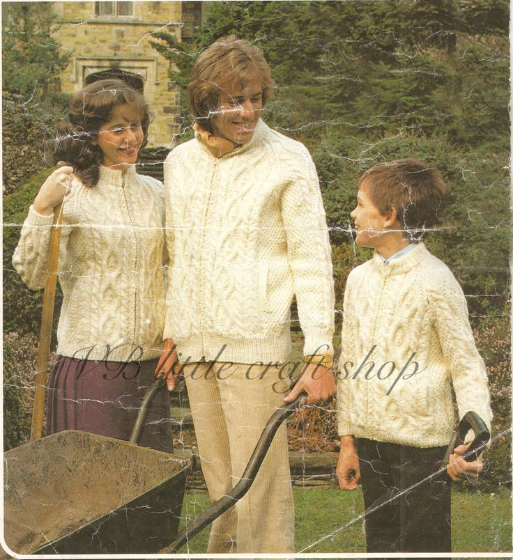 Aran jumpers knitting pattern. All family sizes. Instant PDF download! by VBlittlecraftshop on Etsy