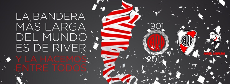 La bandera más larga del mundo es de River Plate - Argentina