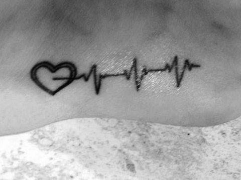 heartbeat ekg tattoo heart theme tattoos pinterest future baby my children and children. Black Bedroom Furniture Sets. Home Design Ideas
