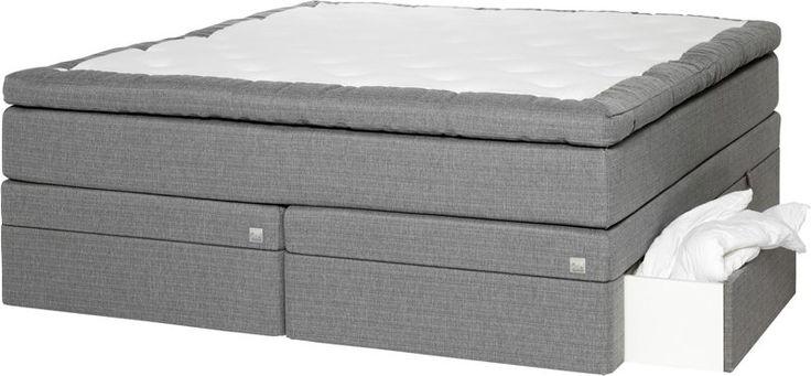 God søvn - overskudd til å skape de gode opplevelseneOdel Bre kontinentalm/oppbevaringlys grå 150x200 medium/fast