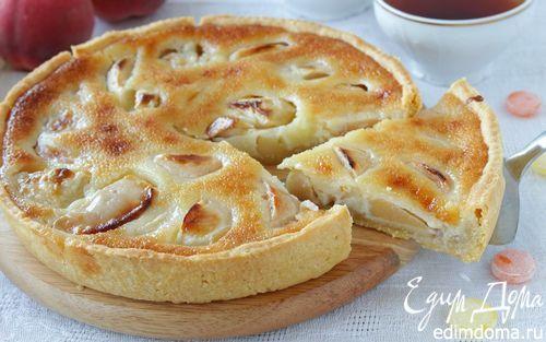 Яблочный пирог с карамельной заливкой   Кулинарные рецепты от «Едим дома!»