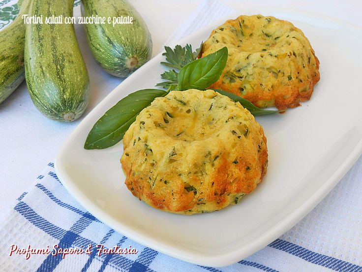 Tortini salati con zucchine e patate