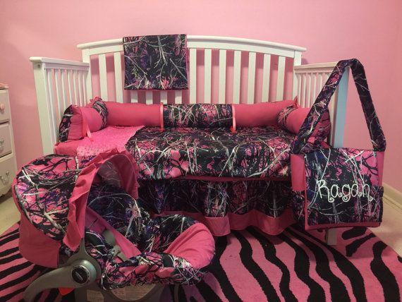 7pc Camo Moonshine MUDDY GIRL fabric & pink by LIZSSTITCHESdotCOM