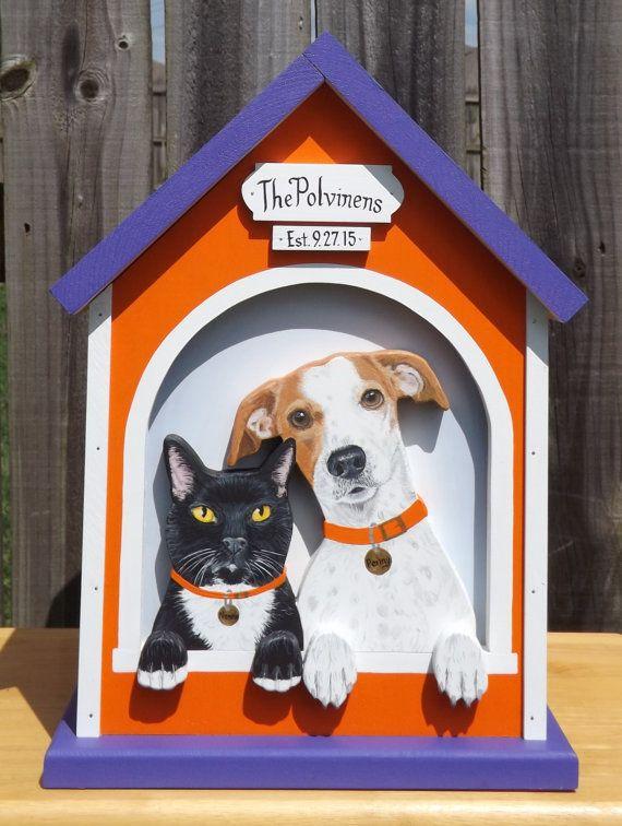 Large Wedding Card Box Dog House with 2 Pets – Large Wedding Card Box
