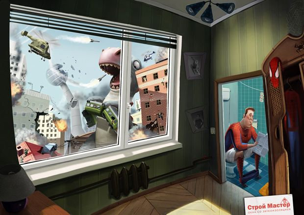 Anúncios De Vidros Anti-Ruidos da BBDO da Rússia