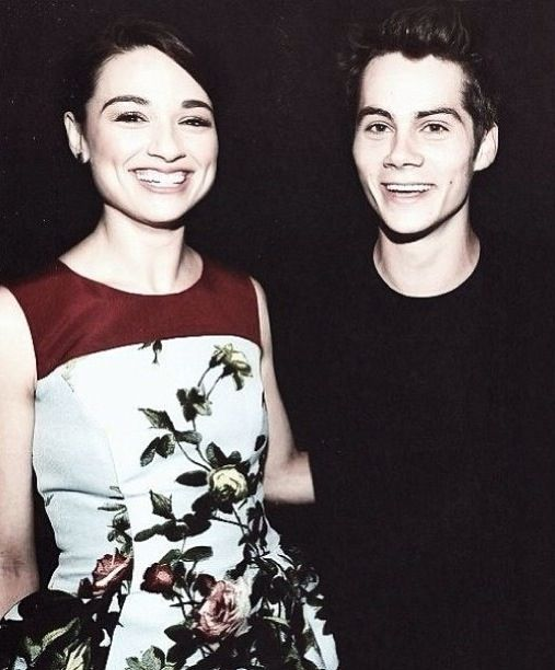 Teen Wolf Cast: Crystal Reed and Dylan O'Brien | Teen Wolf ...