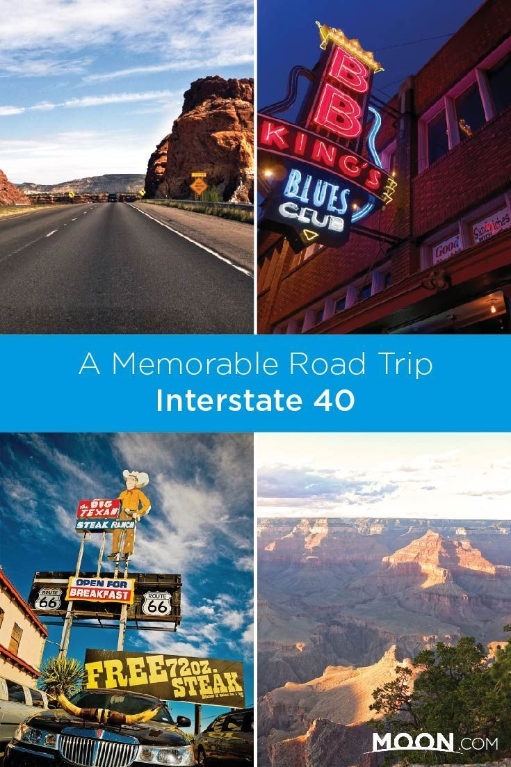Take a classic American road trip on Interstate 40 starting in Tennessee and ending at Arizona's Grand Canyon. #roadtrip #tennessee #arizona