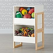 Level Up 1-Bin Stackable White Toy Box