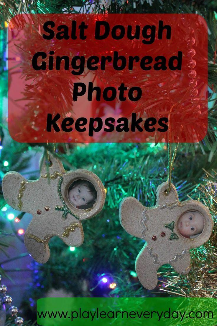 We Made These Adorable Little Gingerbread Men Salt Dough Keepsakes As  Christmas Decorations
