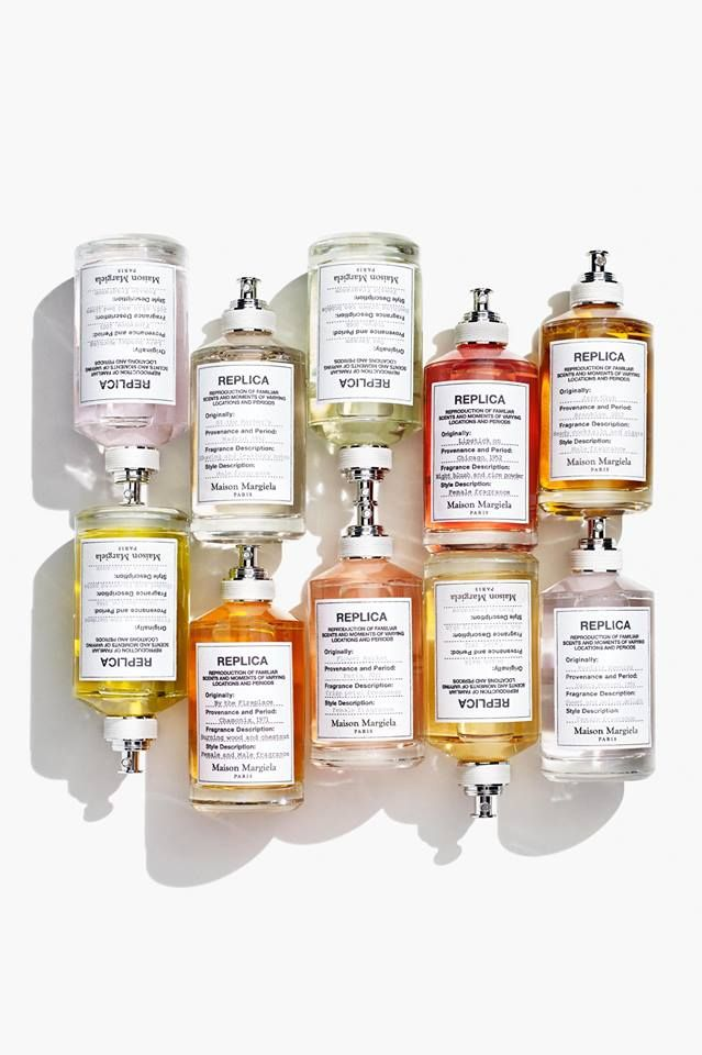 Maison Margiela replica fragrance labels (made of fabric!).