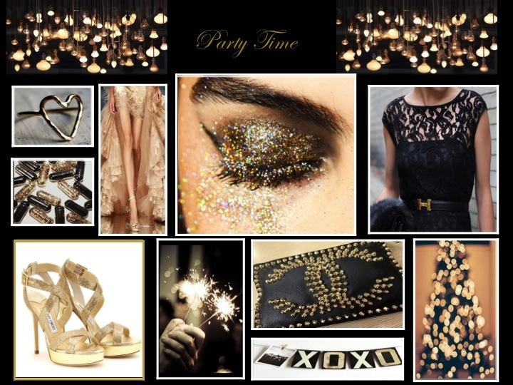 Party,black and gold #moodboard