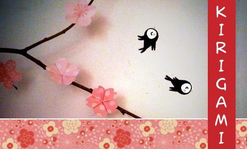 Kirigami : les fleurs de Sakura | Kokeshi