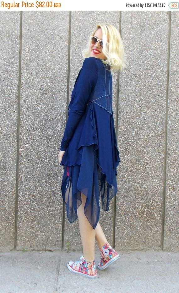 YELLOW SALE 20% OFF Denim Jacket / Multi-Layered Jacket / Casual Denim Jacket / Blue Summer Jacket Tc40