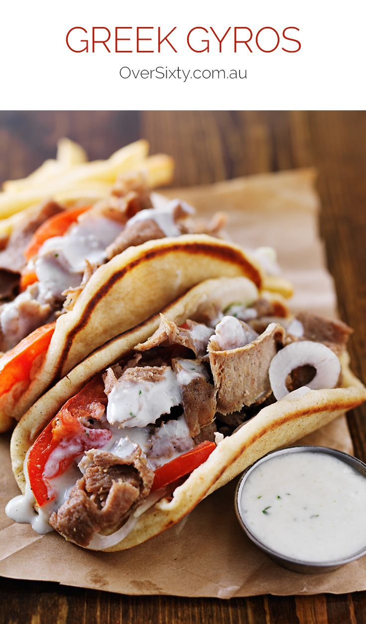 Greek Gyros - Gyros are a delicious Greek combination of beef and lamb wrapped in a pita, and they are an easy lunch option to make at home.