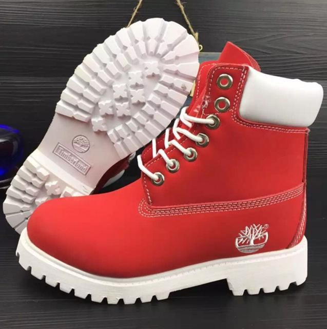 official photos 294fd 8c163 Timberland Rhubarb boots for men and women shoes waterproof Martin boots  lovers Red-white from Summer11. Saved to Things I want as gifts.  size.