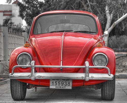 A Volkswagon Beetle.