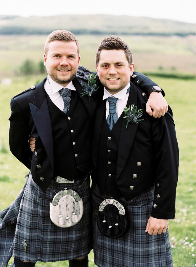 Traditional Scottish groomsmen in kilts: http://www.stylemepretty.com/2015/01/19/scottish-whisky-distillery-wedding/ | Photography: Victoria Phipps Photography - http://www.victoriaphippsphotography.co.uk/