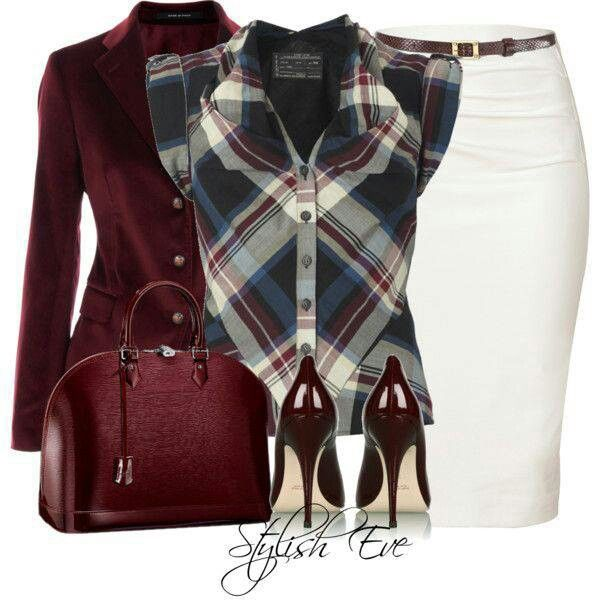 Stylish Eve, jeans skirt outfit.