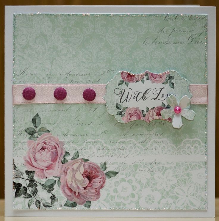 Craftwork Cards, Created using the  Shabby Chic Collection.