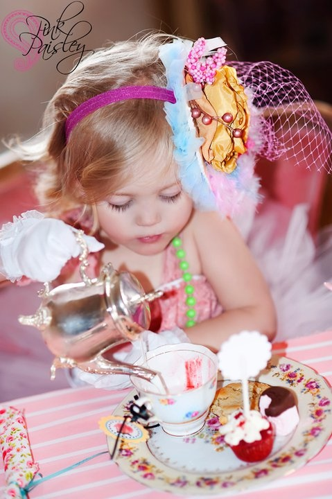 her tea time  i would love to have a little girl and take